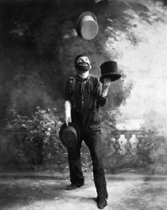 W.C. Fields Juggling Top Hats